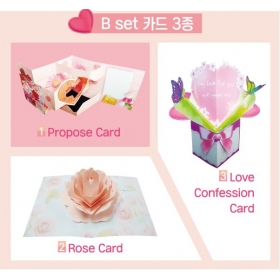 [세트] DIY 카드 만들기 B세트 3종 ★양면테이프 포함 ★