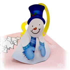 눈사람 DIY 팝업카드